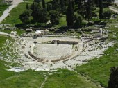 The theater (from above) on the slopes of the Acropolis.