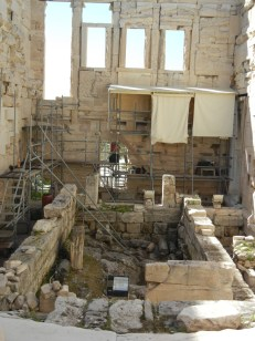 Active work is on going although its not always clear if its restoration or archaeology.