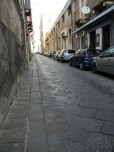 Streets paved with volcanic stone. Talk about getting back on the horse.