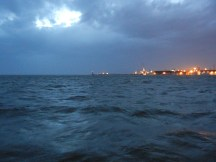 The most dramatic sea scape I've yet seen. The camera can't capture it.