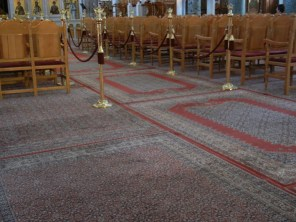 I'd never seen carpet in a church before. This seems like it might be an idea borrowed from Mosque design?