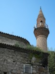 Minaret on former church.