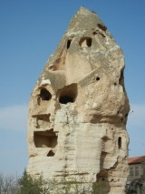 Even in town the landscape is peppered with these amazing rock formations.