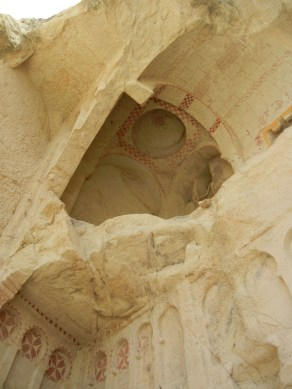 A formerly enclosed space with a little more ventilation than intended. Sandstone can be too easy to carve sometimes.