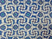 Iznik tile - named for the town it came from and is astonishingly detailed. Many of the patterns are based on natural shapes and patterns.