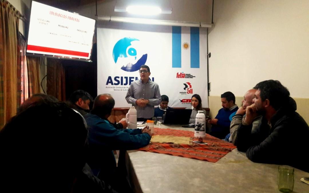 Delegados mineros de ASIJEMIN realizaron curso de Formación Sindical