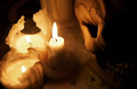 ゴスい#skull #art #bones #death #skullart #horror #goth #gothic #candle #candlenight #candles #relax
