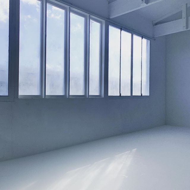スタジオも今年前半の営業終了!(夏の午後4時の入射光の様子)自然光は撮影楽で良い。