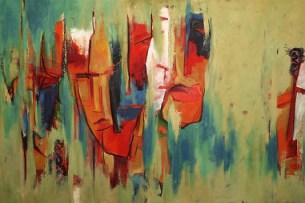 Yulanie Perumbadage aime utiliser des couleurs vives. (swissinfo)