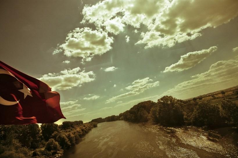 Le fleuve Evros, qui détermine la frontière entre la Turquie et la Grèce Photo: Alberto Campi, 2013