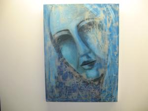 Tableau de Gita Soroush Photo: la rédaction valaisanne de Voix d'Exils