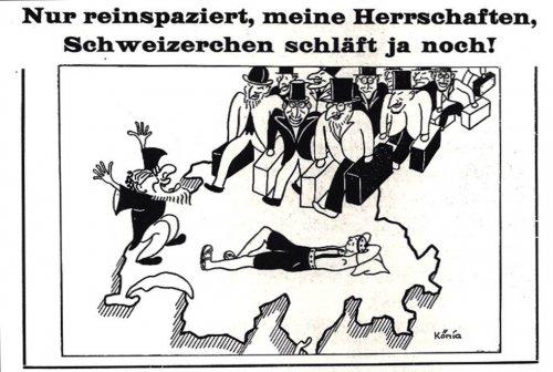 Caricature antisémite parue en 1933 dans le journal autrichien «Der Eiserne Besen»