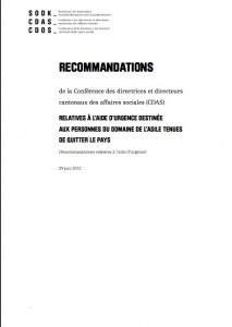 Recommandations CDAS