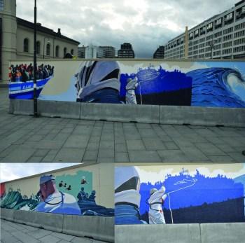 « Mare Nostrum » – Extraits d'une fresque de Torum Skjelland & Vigdis Fjellheim, Oslo, Nobel Peace Center. Photos: Sophie Malka