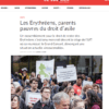 Le Courrier_manif_erythree