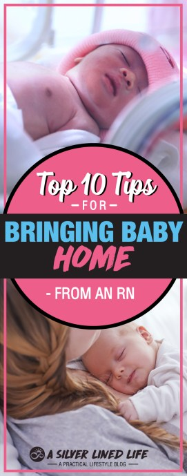 Bringing baby home advice from an RN. From choosing a pediatrician, meal prepping, and getting organized to car seat safety, nursing and at-home care - this is a fantastic checklist of must-know tips!