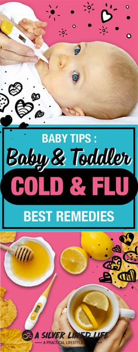 Baby Cold Remedies: Effective, natural treatments for infants, toddlers and children who have a runny nose, sore thought or cough. This includes essential oils, food, cough medicine like honey that help baby sleep at night and tips for mom and dad to know when to visit the doctor. Hope these tips and ideas help boost your little one's immune system and get them back in tip top health! When babies feel bad and are sick, it's just the worst! #SLL