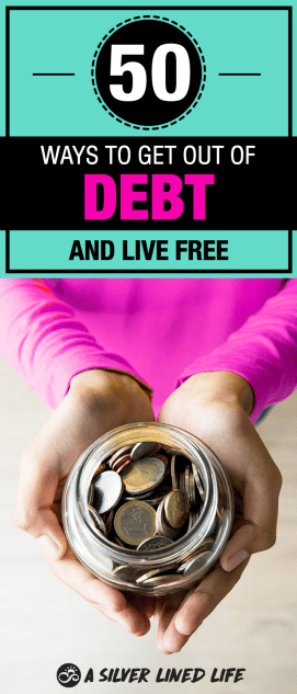 Save money and make money by getting on a budget and getting debt free! The best Frugal living advice. Here's how to get out of debt fast with these 50 unique and out-of-the-box ideas from David Ramsey to FREE printables that will help you get out of debt fast. #SLL #debt #savemoney #makemoney #frugalliving