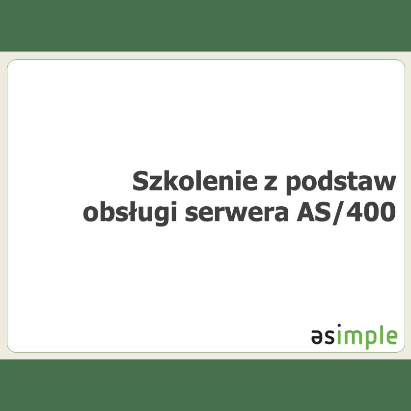 Szkolenia z podstaw obsługi serwera AS/400