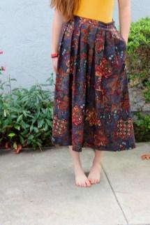 Long Shirt Skirt and Barefoot