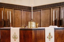 Altar with communion
