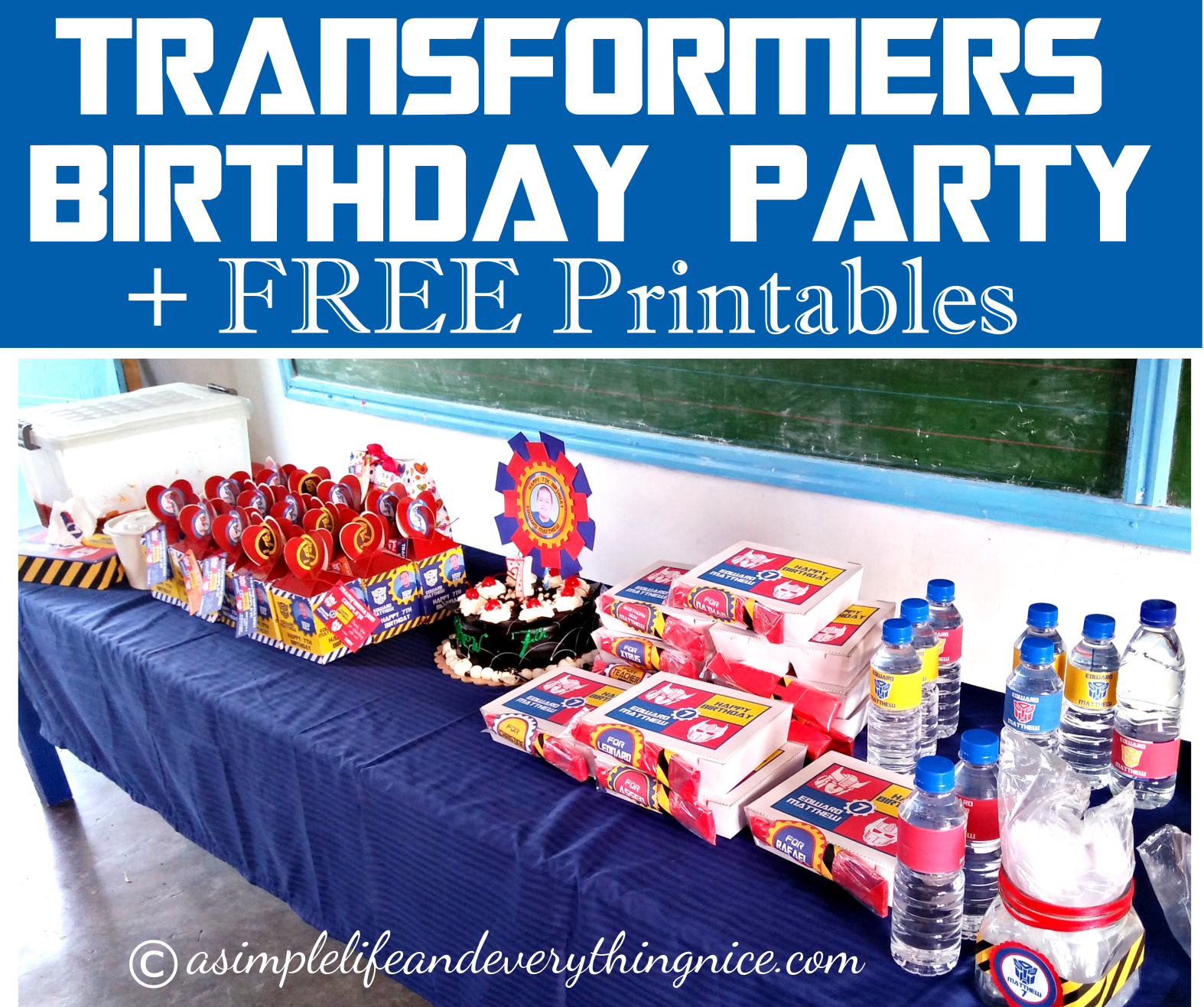 Transformers Inspired Birthday Party Ideas And Free Printables