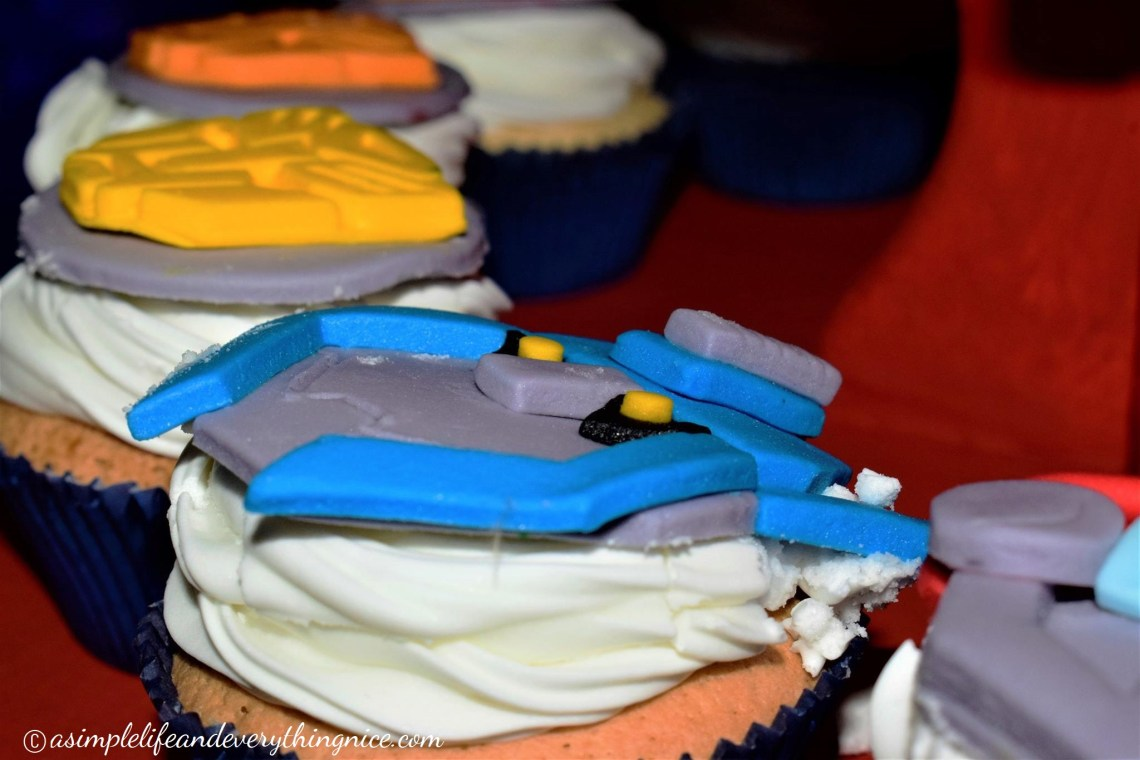 transformers birthday party cupcakes