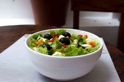 A salad in a bowl