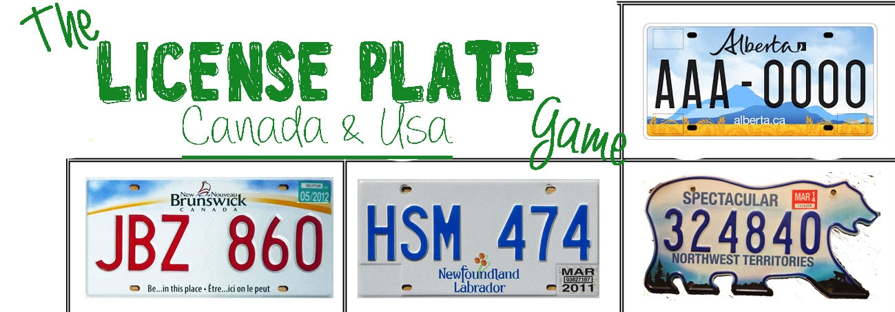 picture regarding License Plate Game Printable named The License Plate Video game Printable - A Uncomplicated One thing