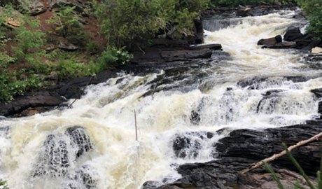 Exploring Egan Chutes in Bancroft, ON. This Ontario waterfall belongs on your bucket list!