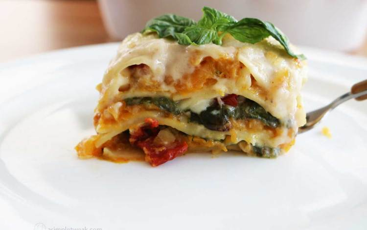butternut-squash-lasagna-on-a-white-plate