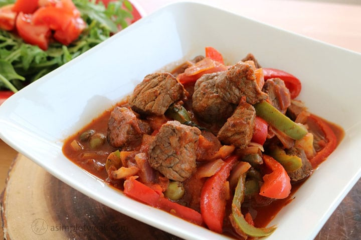Latin America beef stew