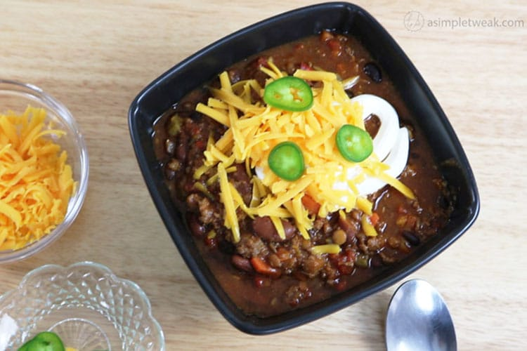 Flavorful chili- recipe