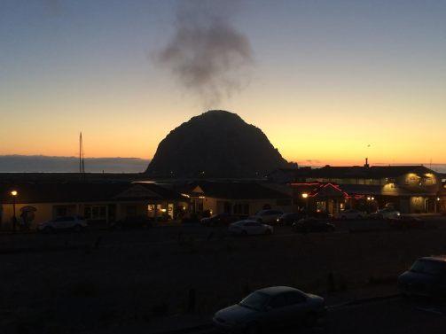 Sunset in Morro Bay, CA