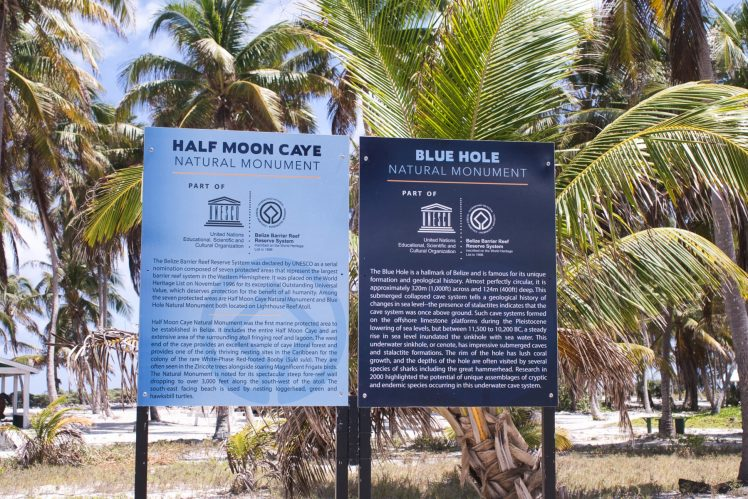 half moon caye and blue hole