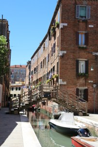 The little bridges of different designs throughout Venice over little waterways are used by the locals to go home or move around from one island to another.