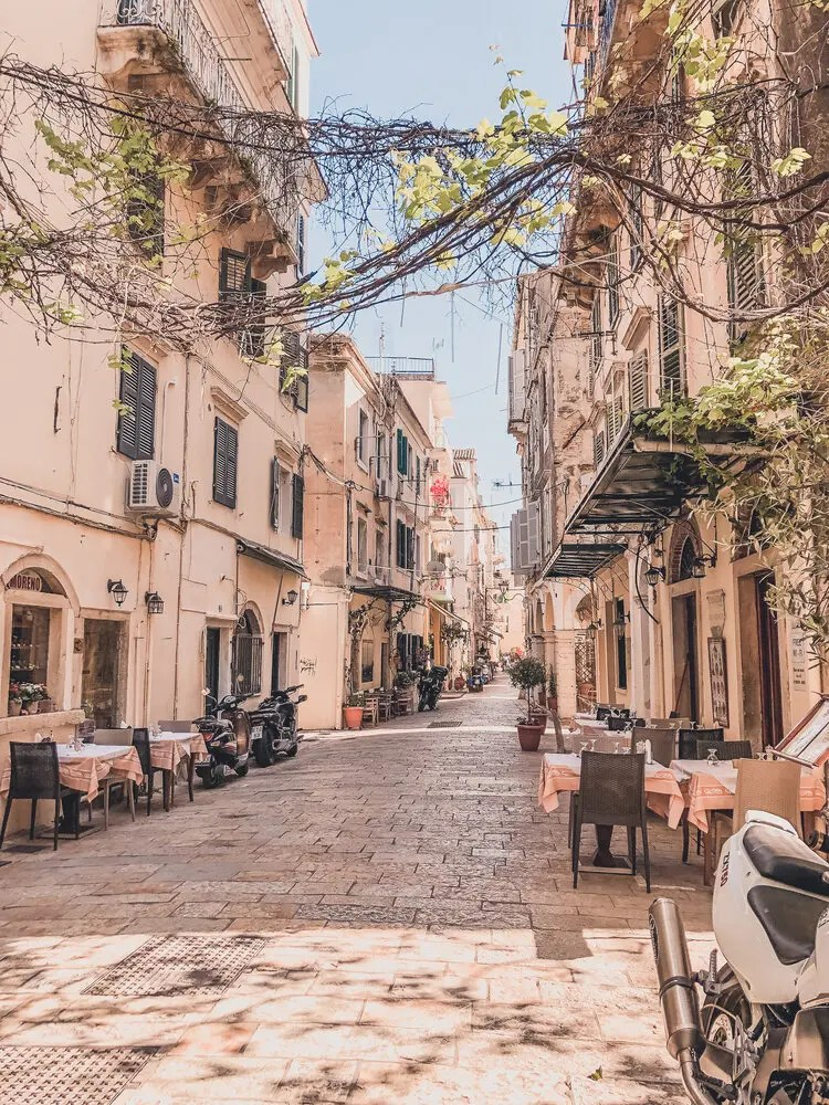 Streets of Old Town Corfu