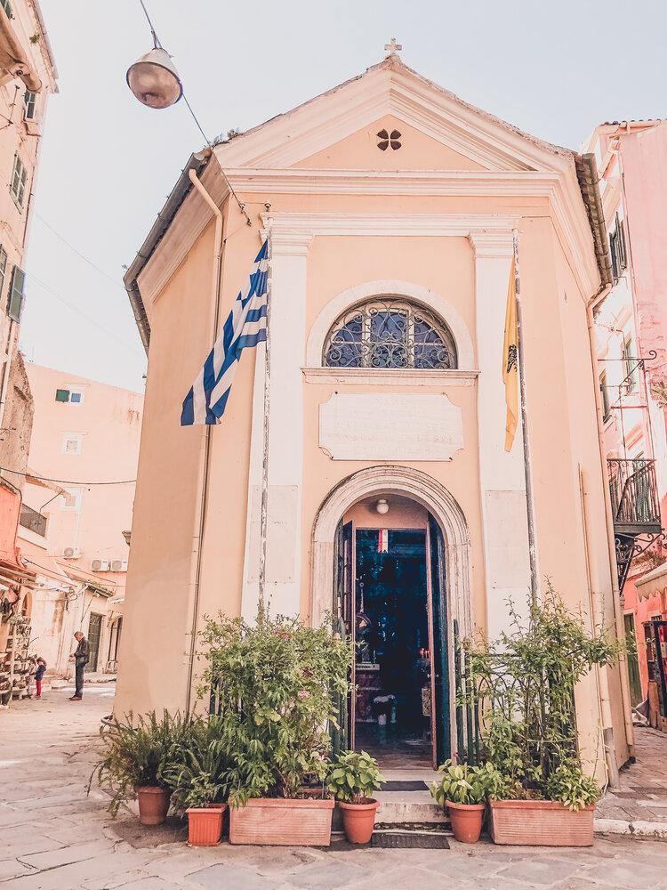 Buildings in Old Town Corfu