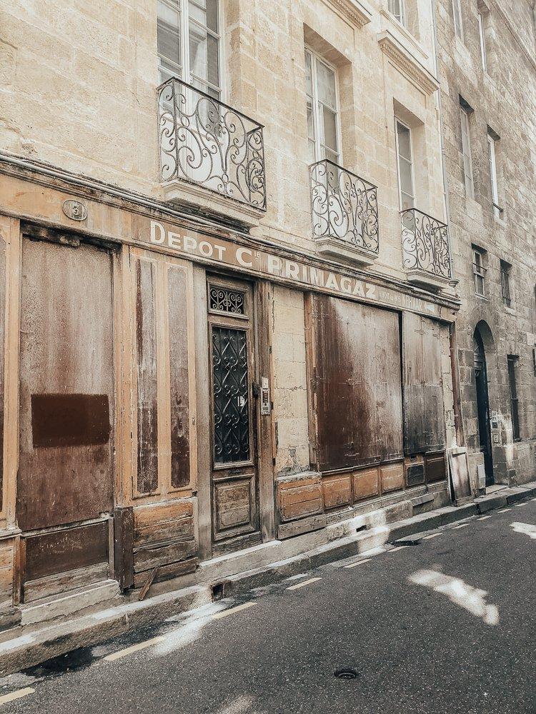 Old storefront in Bordeaux France