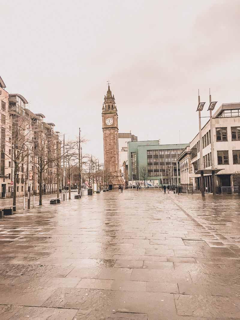 Clock tower in Belfast