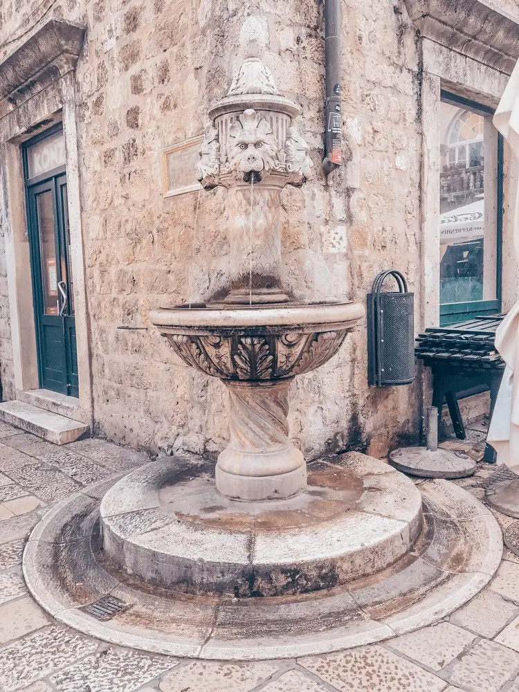 Fountains in Dubrovnik