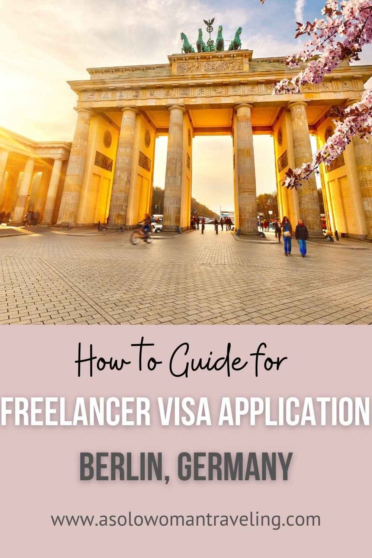 German Freelancer Visa Application Guide