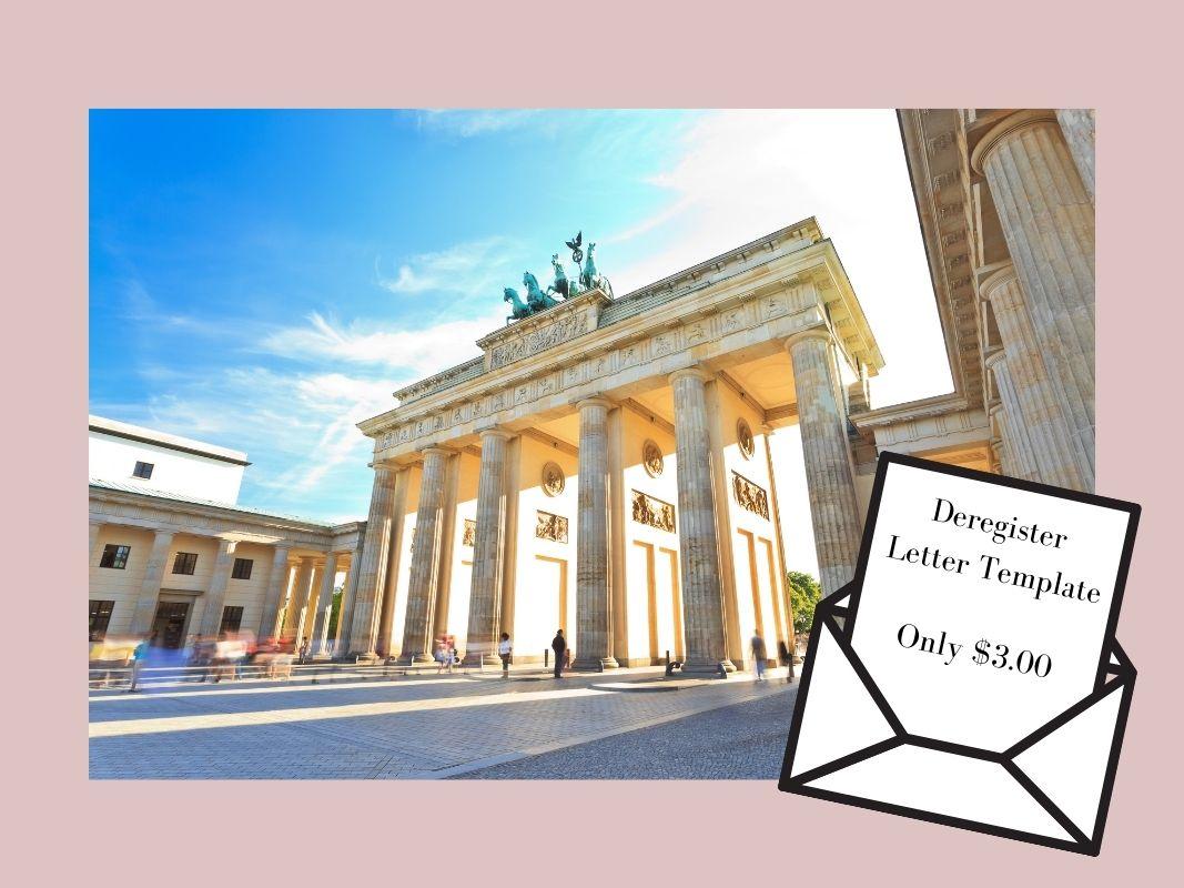 Deregister Berlin Letter Template