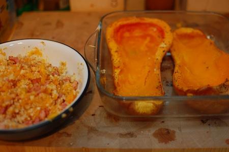Experimentos culinarios: calabaza rellena (2/3)