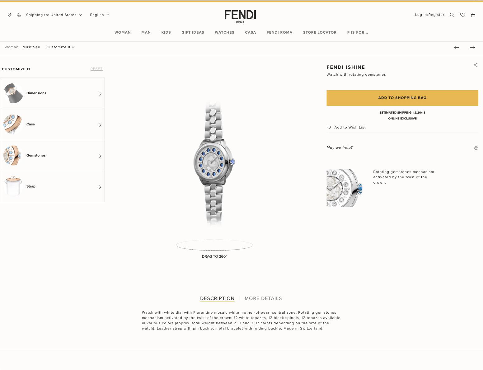 Fendi IShine Customization