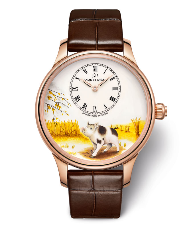 Jaquet Droz Petite Heure Minute Year of the Pig