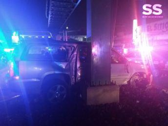 Viajaban a bordo de una camioneta con luces tipo patrulla (Foto: Especial).