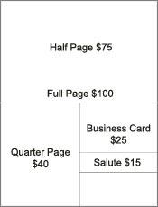 souvenir program template - ad book template