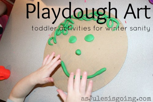 playdough art toddler activities for winter santiy