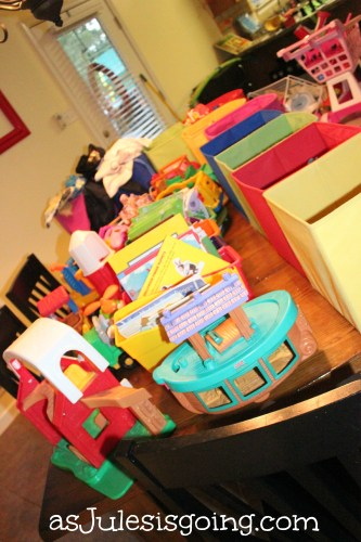 organizing toys, playroom, school room